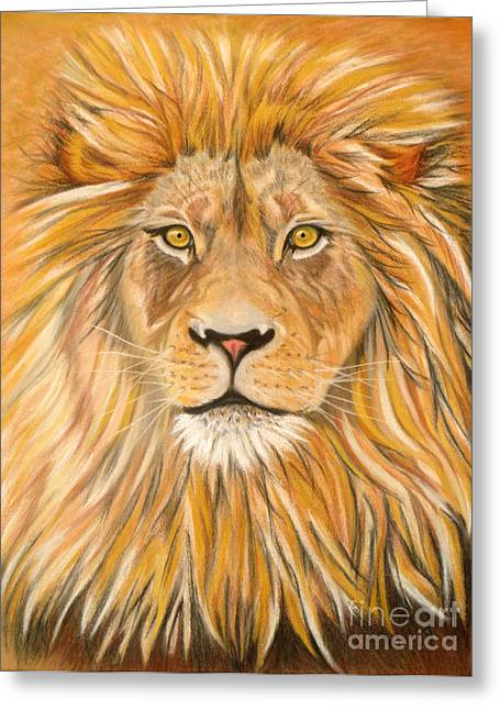 Hunter Pastels Greeting Cards - Majestic Greeting Card by Yvonne Johnstone