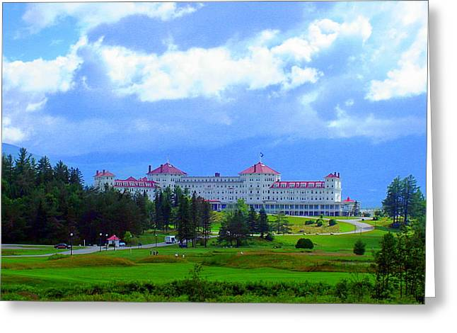 The Mount Washington Hotel Greeting Cards - Majesty in the Mountains Greeting Card by Karen Cook