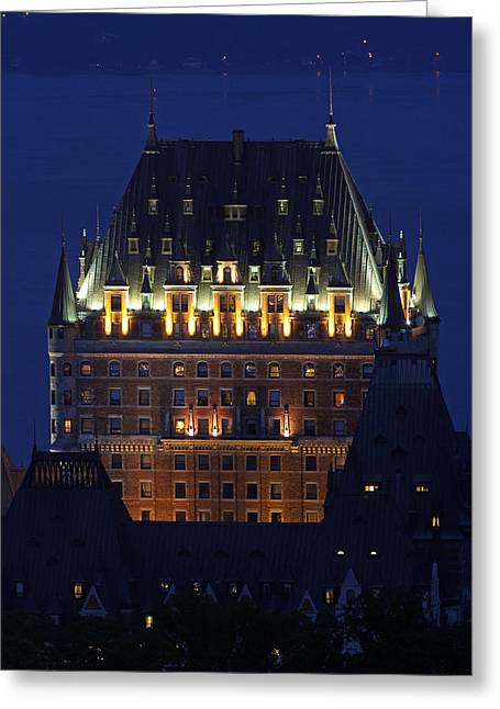 Chateau Greeting Cards - Majesty of Chateau Frontenac in Quebec City Greeting Card by Juergen Roth