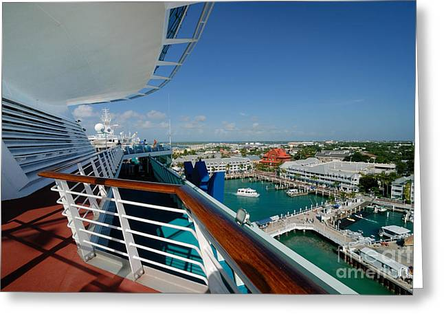 Cruise Vacation Greeting Cards - Majesty of the Seas at Key West Florida Greeting Card by Amy Cicconi
