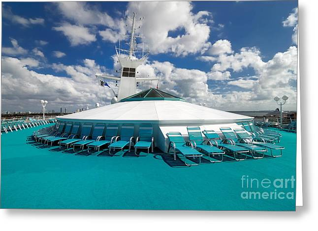 Cruise Vacation Greeting Cards - Majesty of the Seas Upper Deck Greeting Card by Amy Cicconi