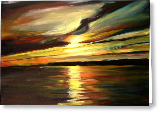 Kitchener Paintings Greeting Cards - Majesty Greeting Card by Sheila Diemert
