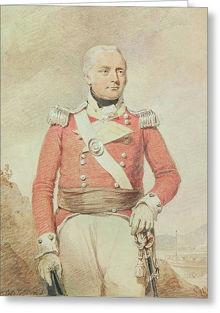 Officers Quarters Greeting Cards - Major General Patrick Mckenzie, 1808 Greeting Card by Henry Edridge