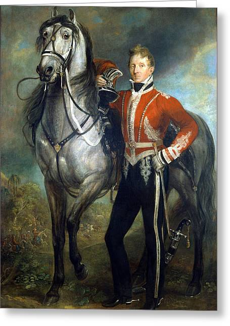 Full-length Portrait Greeting Cards - Major George Cunningham C.1820 Greeting Card by James Howe