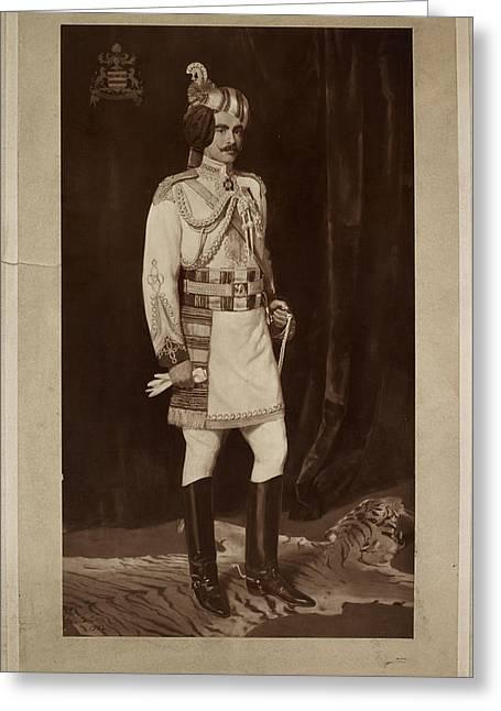 Major Hh Maharaja Sir Ganga Singh Greeting Card by British Library