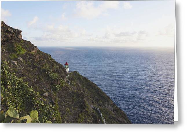 Brianharig Greeting Cards - Makapuu Point Lighthouse 1 - Oahu Hawaii Greeting Card by Brian Harig