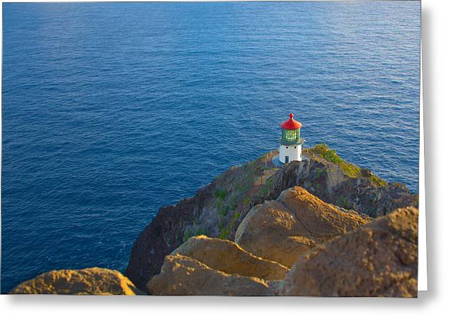 Brianharig Greeting Cards - Makapuu Point Lighthouse Greeting Card by Brian Harig