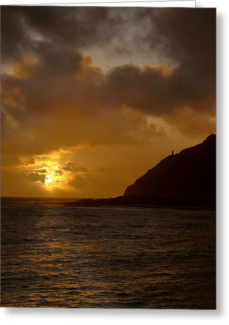Brianharig Greeting Cards - Makapuu Point Lighthouse Sunrise Greeting Card by Brian Harig