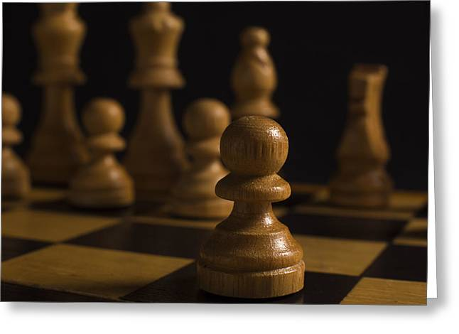 Chess Player Greeting Cards - Make a Move Greeting Card by Andrew Pacheco