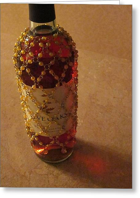 Photography Of Wine Bottles Greeting Cards - Make a Toast Without Bread Greeting Card by Guy Ricketts