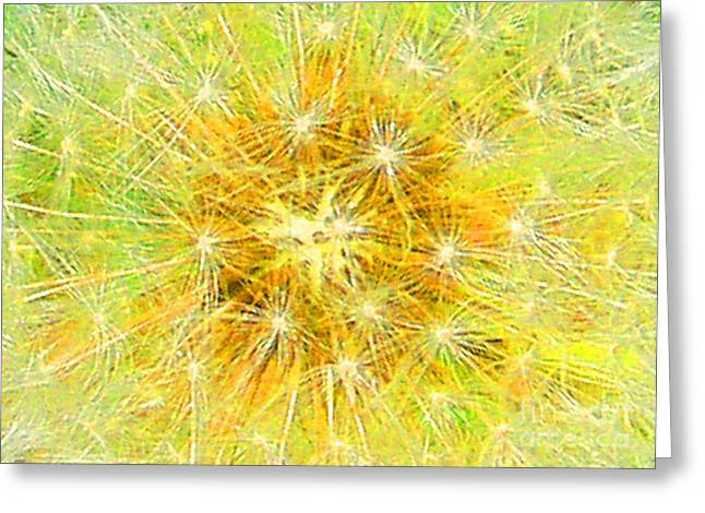 Make A Wish In Greenish Yellow Greeting Card by Jennifer E Doll