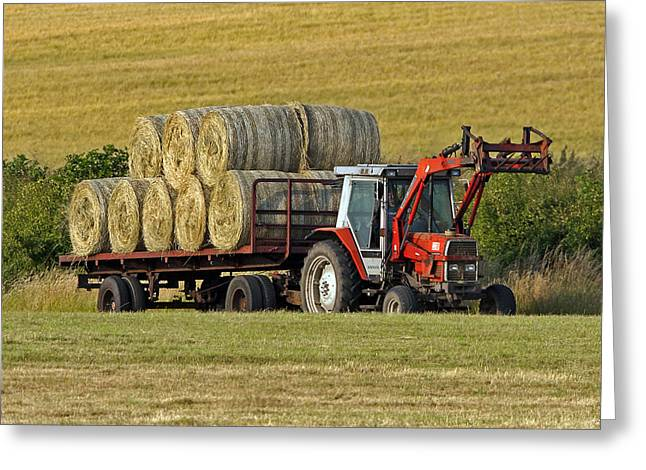 Redtractors Greeting Cards - Make hay when sun shines Greeting Card by Paul Scoullar