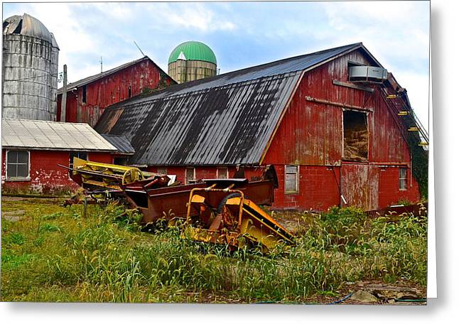 Amish Greeting Cards - Make Hay While the Sun Shines Greeting Card by Frozen in Time Fine Art Photography