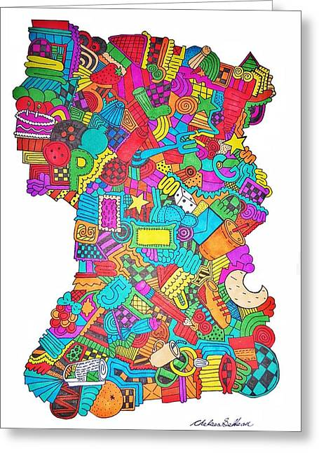 Spectacular Drawings Greeting Cards - Make It End Greeting Card by Chelsea Geldean