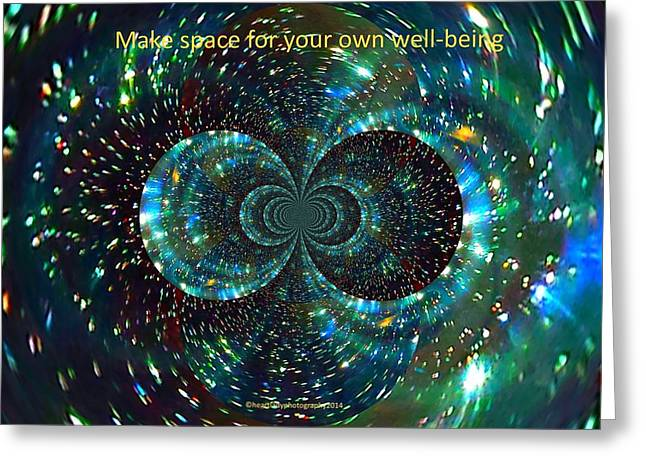 Healing Journey Greeting Cards - Make Space for Your own Well-Being Greeting Card by Tanya Levy