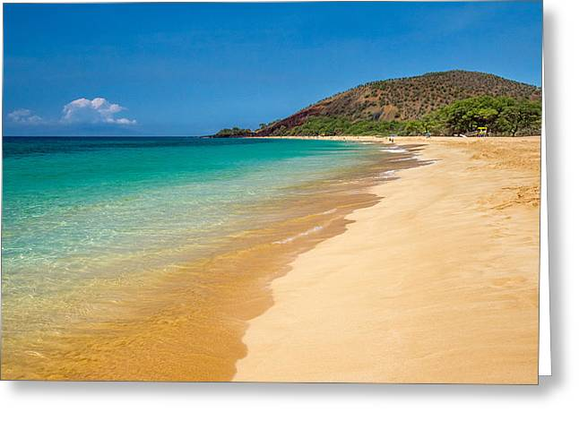 Oi Greeting Cards - Makena Beach Maui is one of the most beautiful beach in the world Greeting Card by Pierre Leclerc Photography