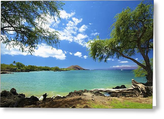 Tropical Golf Course Greeting Cards - Makena Beach State Park Greeting Card by Kicka Witte