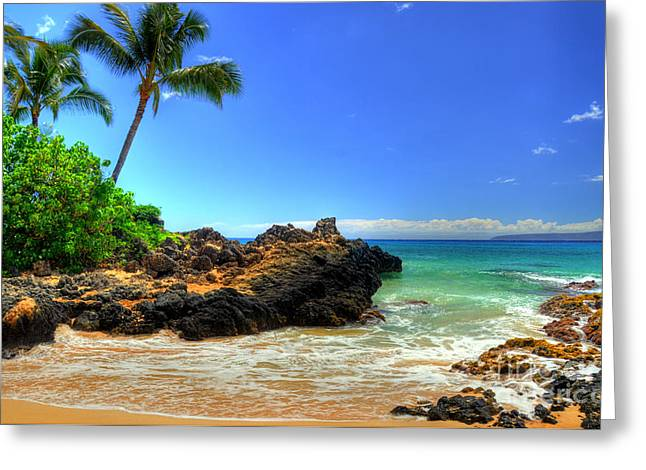 Tropical Photographs Greeting Cards - Makena Secret Cove Greeting Card by Kelly Wade