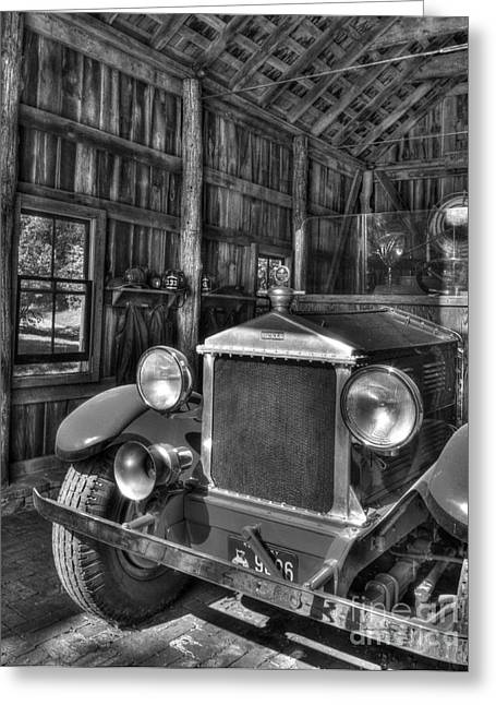 Trial Greeting Cards - Makers Mark Firehouse 2 bw Greeting Card by Mel Steinhauer