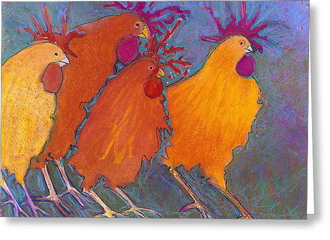 Fun Pastels Greeting Cards - Making a Break for it Greeting Card by Jane Wilcoxson