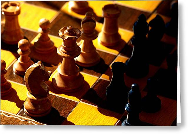 Chess Rook Greeting Cards - Making a Move Greeting Card by Camille Lopez