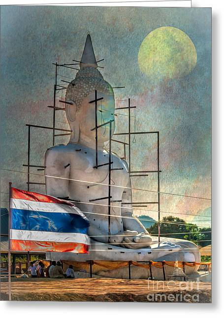 Religious Digital Art Greeting Cards - Making Buddha Greeting Card by Adrian Evans