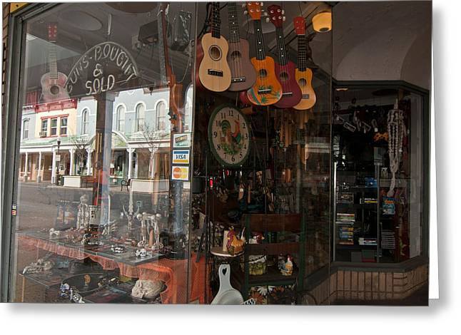 Kingston Greeting Cards - Making Music in Historic Kingston Greeting Card by Nancy  de Flon