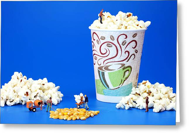 Making popcorn Greeting Card by Paul Ge