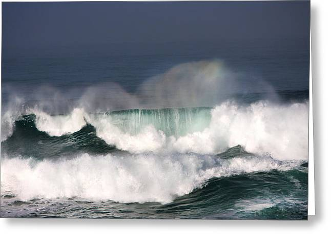 California Ocean Photography Greeting Cards - Making Rainbows Greeting Card by Kandy Hurley