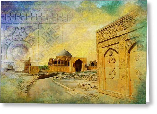 Makli Hill Top Greeting Card by Catf