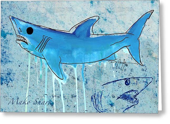 Mako Greeting Cards - Mako Shark Greeting Card by William Depaula