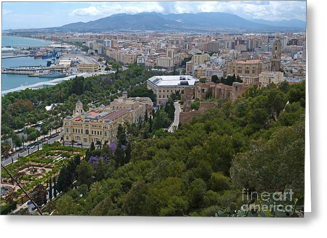Malaga - Andalucia - Spain Greeting Card by Phil Banks