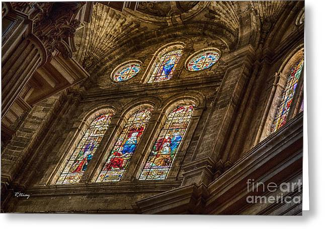 Wholly Greeting Cards - Malaga Cathedral II Greeting Card by Rene Triay Photography