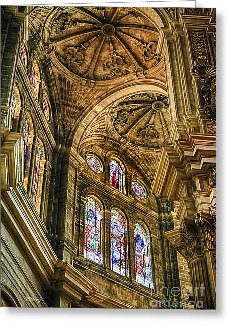 Wholly Greeting Cards - Malaga Cathedral III Greeting Card by Rene Triay Photography