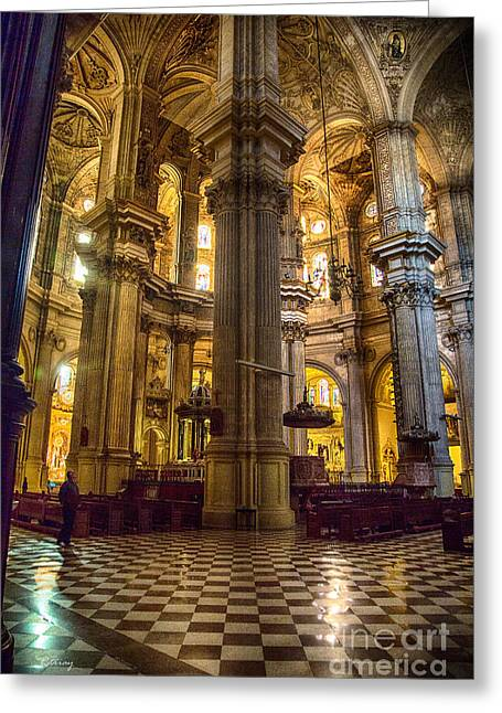 Wholly Greeting Cards - Malaga Cathedral VI Greeting Card by Rene Triay Photography