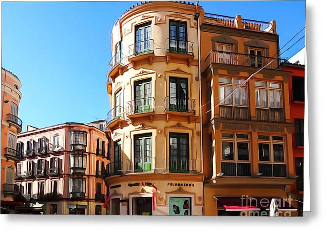 Andalusian Greeting Cards - Malaga Spain Greeting Card by Lutz Baar