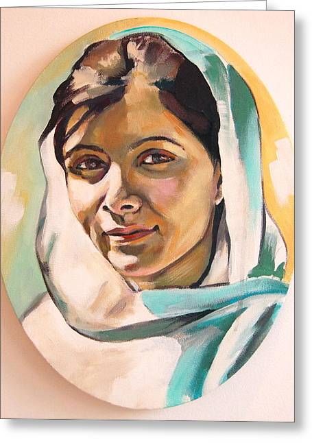 Taliban Greeting Cards - Malala Greeting Card by Britt Kuechenmeister