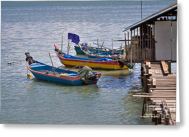 Malaysian Fishing Jetty Greeting Card by Louise Heusinkveld