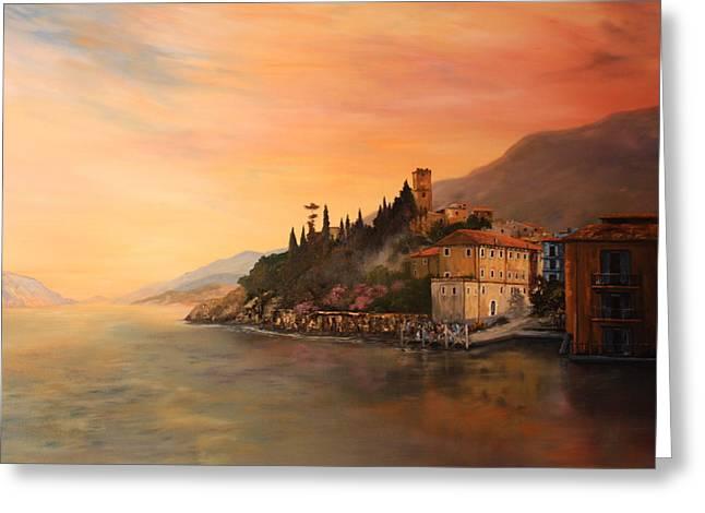 Jean Walker Greeting Cards - Malcesine Lake Garda ITALY Greeting Card by Jean Walker