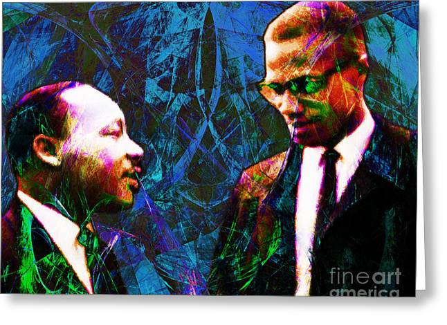 African American History Greeting Cards - Malcolm and The King 20140205p180 Greeting Card by Wingsdomain Art and Photography