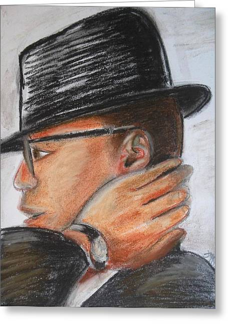 Civil Pastels Greeting Cards - Malcolm Greeting Card by Janie McGee