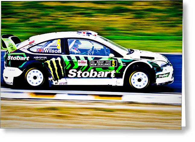 2010 Wrc Greeting Cards - Malcolm Wilson Ford Focus Greeting Card by motography aka Phil Clark