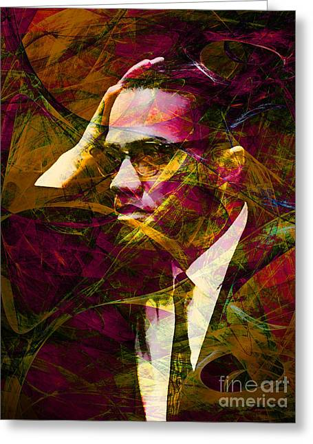 Malcolm X Greeting Cards - Malcolm X 20140105 Greeting Card by Wingsdomain Art and Photography