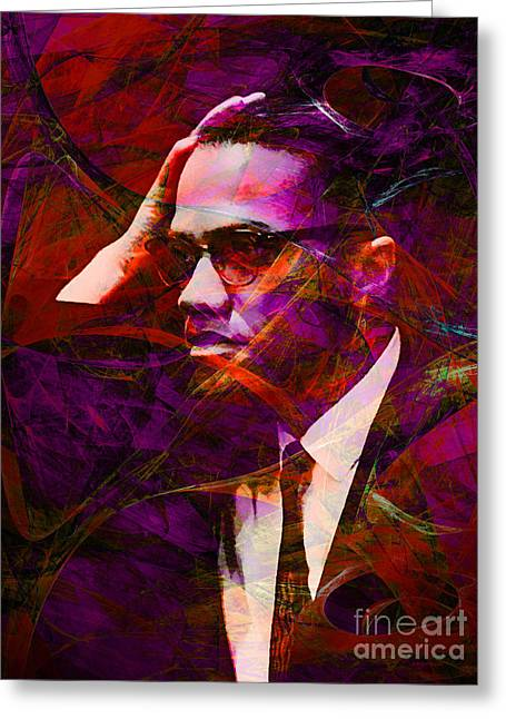 Black History Greeting Cards - Malcolm X 20140105m28 Greeting Card by Wingsdomain Art and Photography