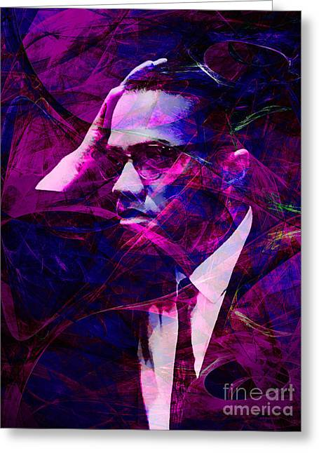 Malcolm X Greeting Cards - Malcolm X 20140105m88 Greeting Card by Wingsdomain Art and Photography