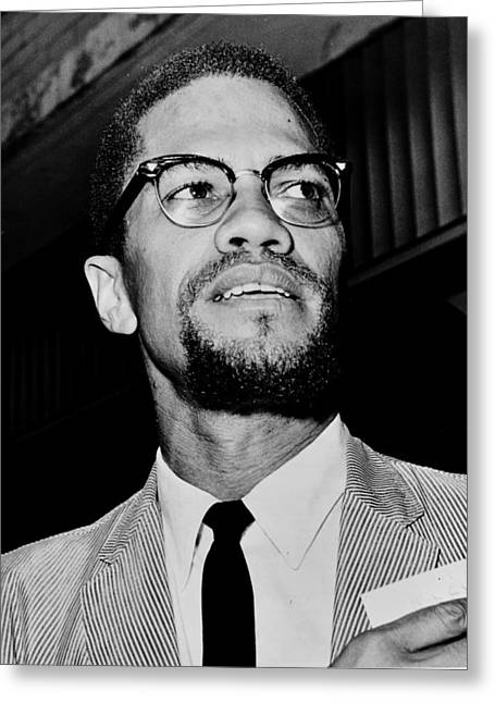 Malcolm X Greeting Cards - Malcolm X Greeting Card by Benjamin Yeager