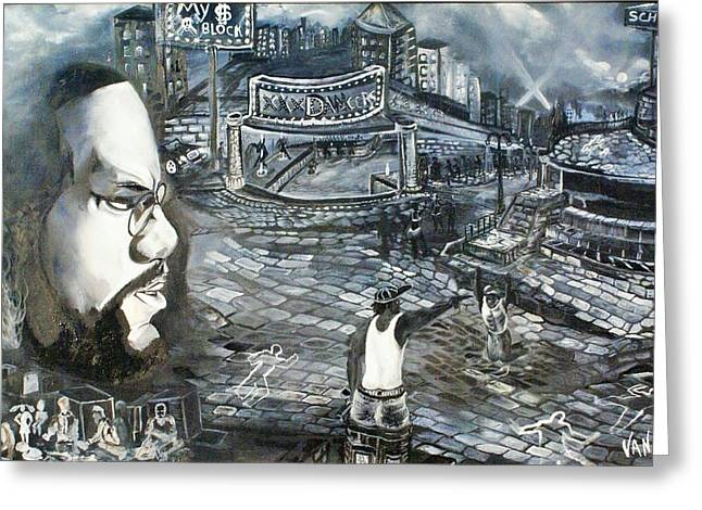 Civil Rights For African-americans Greeting Cards - MalcomX looking at the now. Greeting Card by Vanness Johnson