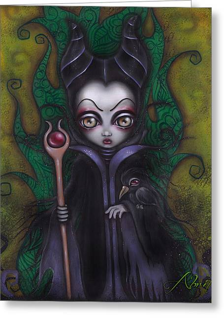 Maleficent Greeting Cards - Maleficent  Greeting Card by  Abril Andrade Griffith