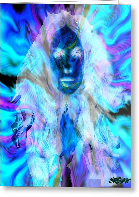 Maiden Mixed Media Greeting Cards - Malestrom Maiden Greeting Card by Seth Weaver