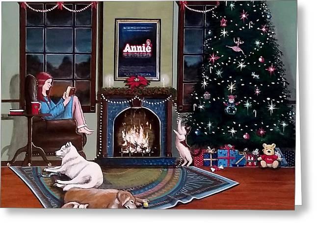 John Lyes Greeting Cards - Mallory Christmas Greeting Card by John Lyes